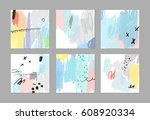 set of creative universal art... | Shutterstock .eps vector #608920334
