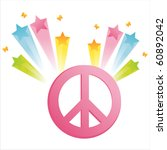 peace with star splash | Shutterstock .eps vector #60892042