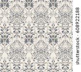 ornate damask vintage wallpaper.... | Shutterstock .eps vector #608922188