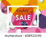 easter sale illustration....   Shutterstock . vector #608923190