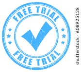 free trial vector rubber stamp...