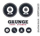 grunge post stamps. webcam sign ...   Shutterstock .eps vector #608926610