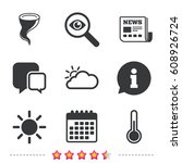 weather icons. cloud and sun...   Shutterstock .eps vector #608926724