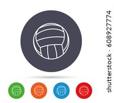 volleyball sign icon. beach...   Shutterstock .eps vector #608927774
