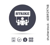 strike sign icon. group of...   Shutterstock .eps vector #608929748