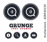 grunge post stamps. chat sign...   Shutterstock .eps vector #608930150