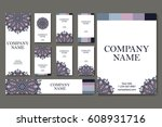 vector template business card.... | Shutterstock .eps vector #608931716