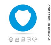 shield sign icon. protection...   Shutterstock .eps vector #608931830