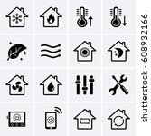 Heating And Cooling Icons. Hvac ...