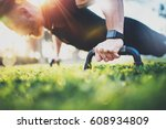 healthy lifestyle concept... | Shutterstock . vector #608934809