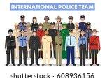 international police people... | Shutterstock .eps vector #608936156