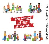 the history of our family... | Shutterstock .eps vector #608941163