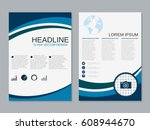 modern business two sided flyer ... | Shutterstock .eps vector #608944670