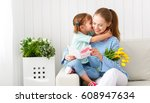happy mother's day  child... | Shutterstock . vector #608947634