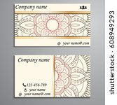 visiting card and business card ... | Shutterstock .eps vector #608949293