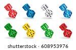 vector game illustration. six... | Shutterstock .eps vector #608953976
