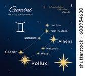 gemini. high detailed vector... | Shutterstock .eps vector #608954630
