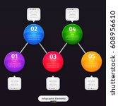 vector infographic elements on... | Shutterstock .eps vector #608956610