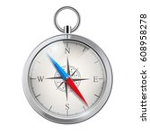 glossy bright vintage compass... | Shutterstock . vector #608958278