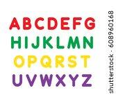 alphabet set | Shutterstock .eps vector #608960168