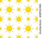 seamless pattern with cartoon... | Shutterstock .eps vector #608962484