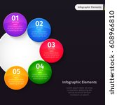vector infographic elements on...