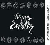 happy easter vector... | Shutterstock .eps vector #608968244