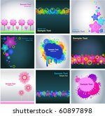 set of abstract colorful... | Shutterstock .eps vector #60897898