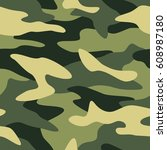 camouflage pattern background... | Shutterstock .eps vector #608987180