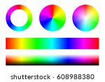 set of color spectra rgb  wheel ... | Shutterstock .eps vector #608988380
