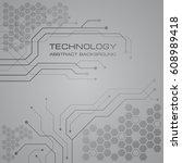 circuit board technology... | Shutterstock .eps vector #608989418