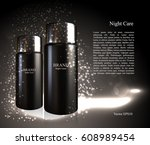 design cosmetics product  ads... | Shutterstock .eps vector #608989454