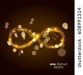 the shining infinity symbol.... | Shutterstock .eps vector #608991314