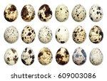Isolated Quail Eggs. Big...