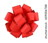 Small photo of Red bow isolated on white background with clipping path
