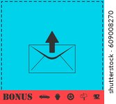 mail arrow icon flat. simple... | Shutterstock .eps vector #609008270