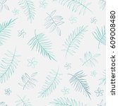 gentle seamless background with ... | Shutterstock .eps vector #609008480