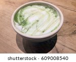 Green Tea Latte With Foam And...