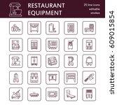 restaurant professional... | Shutterstock .eps vector #609015854
