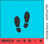 shoes icon flat. simple vector...