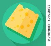 vector cheese flat cartoon... | Shutterstock .eps vector #609018533