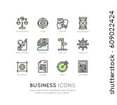 vector icon style illustration... | Shutterstock .eps vector #609022424