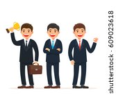 set cute business team. team... | Shutterstock .eps vector #609023618