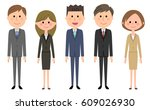 business team people in suit | Shutterstock .eps vector #609026930