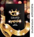 grand opening blurred... | Shutterstock .eps vector #609030896