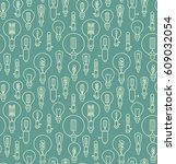 seamless pattern made of linear ... | Shutterstock .eps vector #609032054
