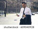 serious executive manager 40... | Shutterstock . vector #609040928