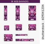 vector advertising web banners... | Shutterstock .eps vector #609041204