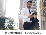 smiling handsome office worker