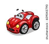 cartoon car | Shutterstock .eps vector #609043790
